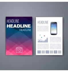 Templates design set of web mail brochures vector
