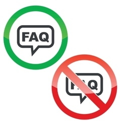 Faq message permission signs vector