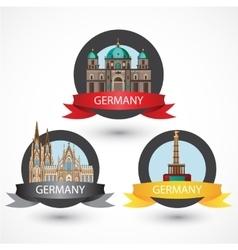 Set of most Famous German Landmarks High detailed vector image