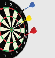 Dartboard color vector