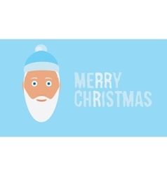 Merry christmas wish on ice blue background card vector