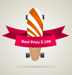 Ad layout for longboard with the best price vector