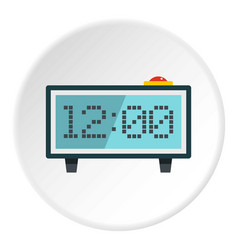 Alarm clock icon circle vector
