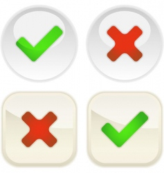 approved and rejected icons vector image vector image