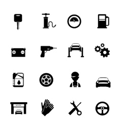 Auto Service Flat Icons Set vector image vector image
