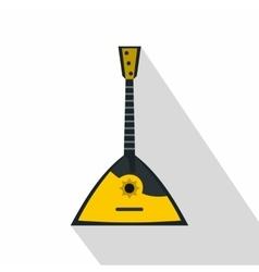 Balalaika russian folk instrument icon flat style vector