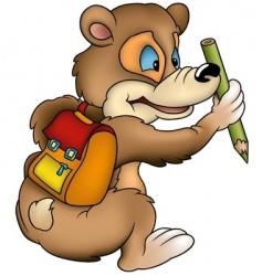 bear schoolboy vector image vector image