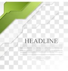 Bright green tech corporate geometric background vector