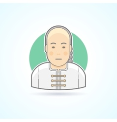 Chinese man in traditional close icon vector image vector image