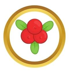 Cowberry icon vector