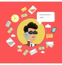 Creative office background vector