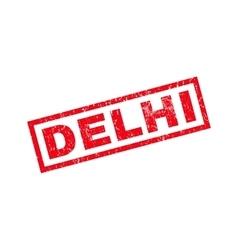 Delhi rubber stamp vector