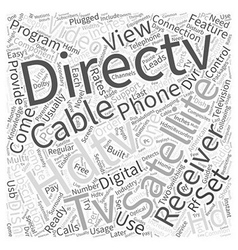 Directv satellite hdtv receivers word cloud vector