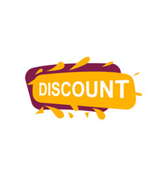 Discount speech bubble for retail promotion vector