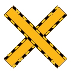 do not cross yellow ribbon vector image
