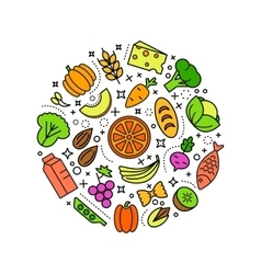 Healty food background representing vector image
