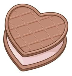 heart biscuit vector image vector image