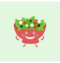 Humanized Salad Funny vector image vector image