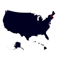 New hampshire state in the united states map vector