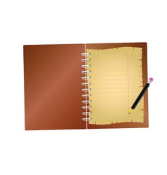 notebook with pencil vector image