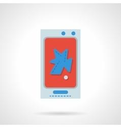 Phone repair flat color design icon vector