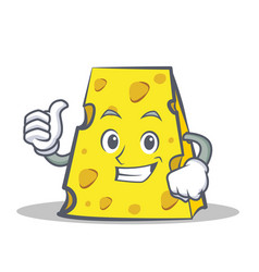 Proud cheese character cartoon style vector