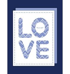 Purple drops chevron love text frame pattern vector