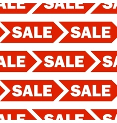 Seamless background with red sale signs vector image vector image
