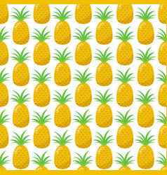 seamless pattern of pineapple vector image vector image