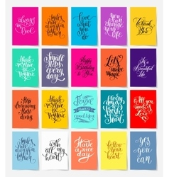 set of calligraphy posters with hand lettering vector image vector image