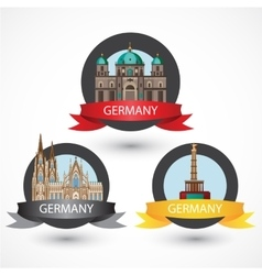 Set of most Famous German Landmarks High detailed vector image