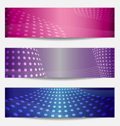 Set of three templates for disco party invitations vector