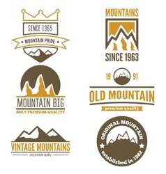 Set of vintage logo emblem label print or vector image vector image