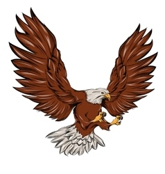 Single eagle during landing vector