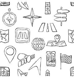 Sketch seamless navigation pattern vector