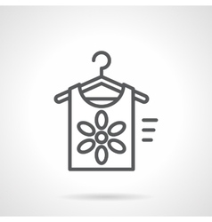Summer clothing store black line icon vector image