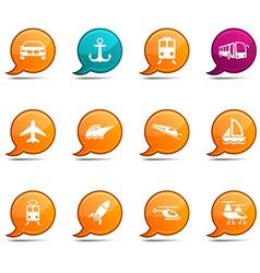 Transport comics vector image vector image