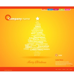 website christmas template vector image vector image