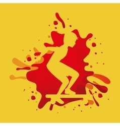 Avatar athlete with splattered paint vector