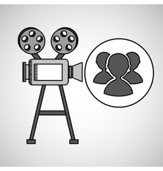 camera film vintage with movie group s vector image