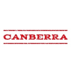 Canberra watermark stamp vector