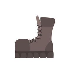 black hiking shoe vector image
