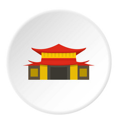 Chinese temple icon circle vector
