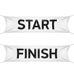 Starting and finishing lines banners vector image