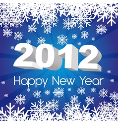 2012 new year blue background with snowflakes vector