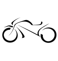Silhouette of a motorcycle on a white background vector