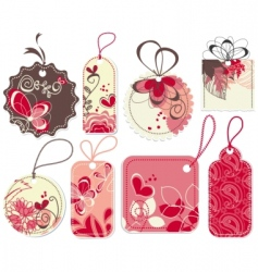 Love price tags set vector