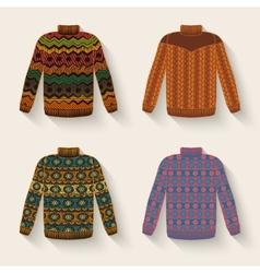 Cute sweater set vector