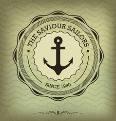 Vintage nautical anchor vector