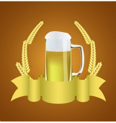 beer and wheat vector image